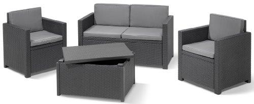 Allibert 220025 Monaco Salon de jardin avec 2 fauteuils, 1 ...