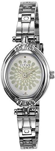 Titan Analog Silver Dial Women's Watch - 2538SM01