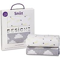 Sábanas bajeras Snuz Cloud Nine para cuna, paquete de 2 unidades