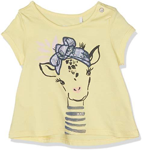 IKKS Junior T T Shirt Jaune Clair Girafe T- 71, 12-18 Mois (Taille Fabricant:18M) Bébé Fill