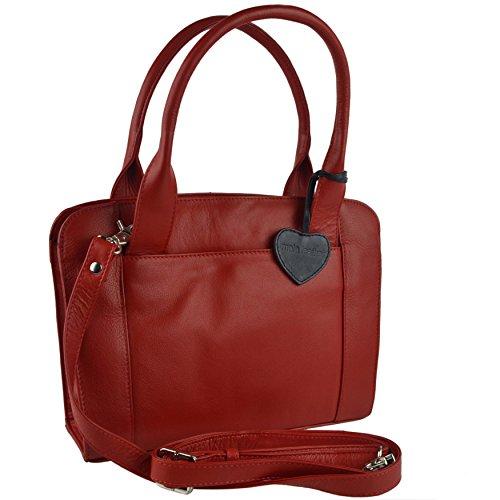 Mala Leather , Sac à main pour femme rojo rojo