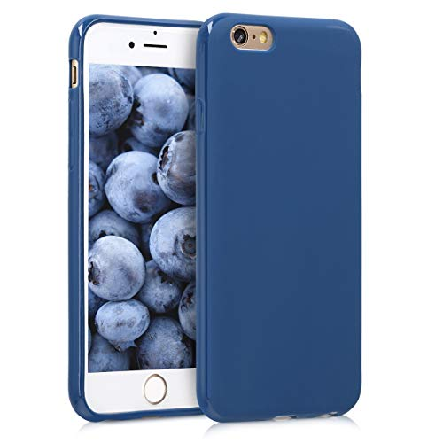 e 6 / 6S Hülle - Handyhülle für Apple iPhone 6 / 6S - Handy Case in Marineblau ()
