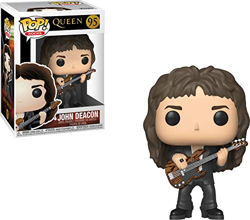 Funko 33728 POP! Vinyl: Rocks: Queen: John Deacon Action Figur, - Gi Joe Kostüm Zubehör