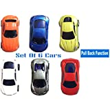 US1984 Pull Push Back Mini Sport Cars 6 Pcs Model Toy Sets Working Vehicle Series Great Gift For Boys And Girls Above 3 Years Old (mini Cars Set)