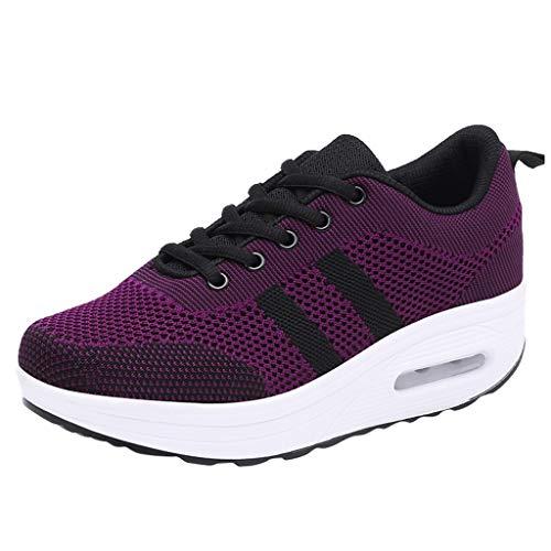 Dragon868 Damen Atmungsaktiv Walking Schuhe Outdoor Plattform Sneakers Freizeit Leichte Laufschuhe Gym Sportshuhe - Slouchy Boot-plattform