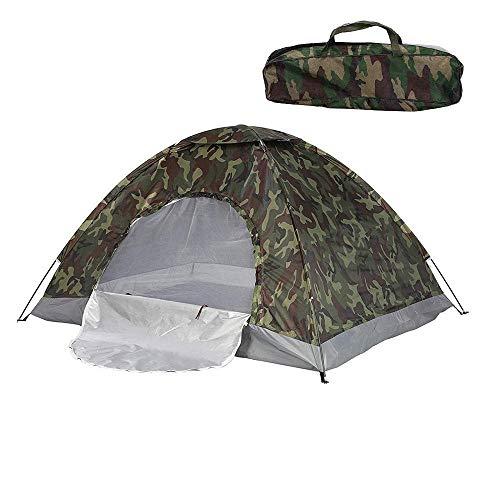 WZtent Campingzelt wasserdicht 2-3 Personen 4 Jahreszeiten Tarnung Winddicht Ultraleicht UV Angelzelt Zelt Strandzelt 200cm x 150cm x 110cm