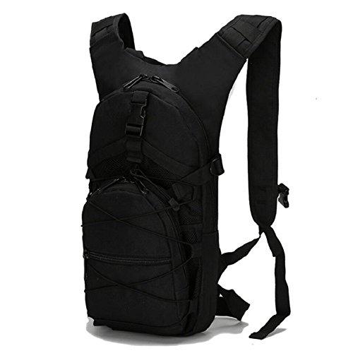 ZX&Q Freizeit Outdoor Reise Taktik Tarnung Sport Wasser Tasche wasserdichte Abnutzung Reißfest 15L Doppel Schulter Rucksack E