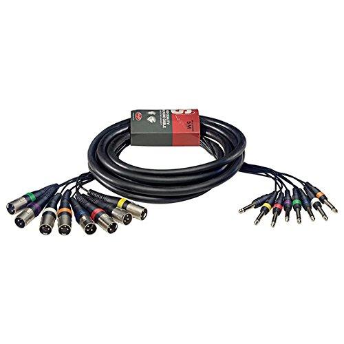 Stagg 25018278 SML5/8XM8P E Multicore Kabel (5 m, 8 XLRm auf 8 Plug)