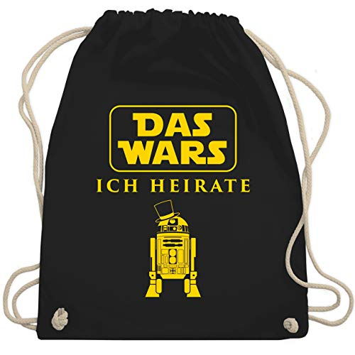 JGA Junggesellenabschied - Das Wars JGA Ich Heirate - Unisize - Schwarz - WM110 - Turnbeutel & Gym Bag (Mann Kostüm Er)