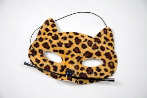Festartikel Müller Augenmaske Leopard Raubtier Maske zu Karneval Fasching