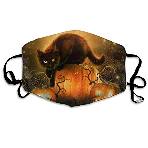 EighthStore Halloween Pumpkin Bat Cat Printed Mouth Masks Unisex Anti-dust Masks Reusable Face Mask Mouth-Muffle Mund Maske