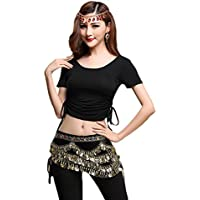 YiJee Mujer Danza del Vientre Tops Camiseta Belly Dance Blusa Disfraz