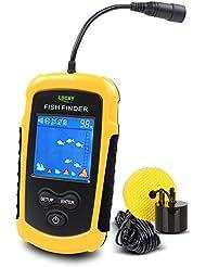 Lucky Fish Finders Alarm 100M / 328ft Portable Angeln Sonar Sensor Verkabelt LCD Tiefe Finder Echolot