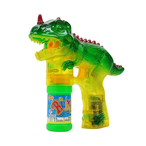 Macchina A Bolle Per Bagnetto ❀❀Chshe Bolla Di Dinosauri Light Up | Bubbles Blower | Con Led Lampeggiante E Suoni Giocattolo |Per I Bambini A Giocare All'Aria Aperta |A|