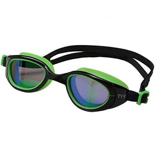 TYR Special Ops 2.0Polarized prestazioni/Racing Goggles, unisex, Special Ops 2.0 Polarized, Black/Green/Fluo-Green