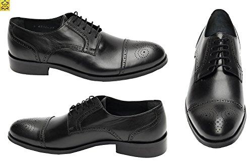Muga Hommes chaussures à lacets Budapest-310- Noir