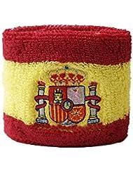 Schweißband Motiv Fahne / Flagge Spanien mit Wappen + gratis Aufkleber, Flaggenfritze®