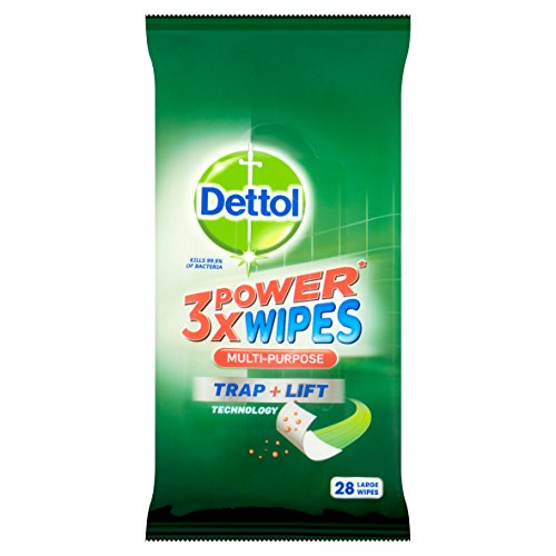 Dettol 3X Power Gel Multi Purpose Wipes (Pack of 9, Total of 252)