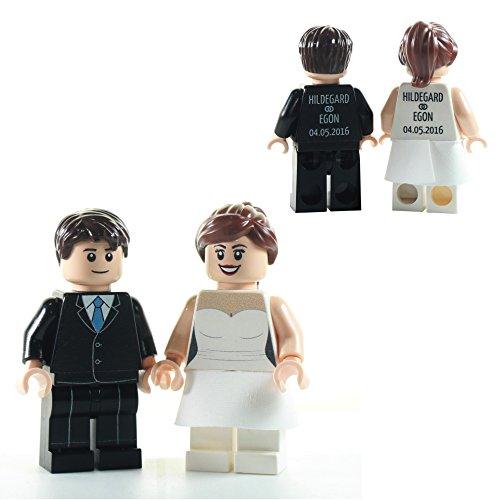 Custom Minifiguren personalisiertes Brautpaar / Hochzeitspaar aus Lego Teilen