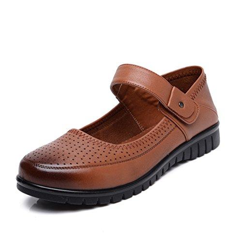Le scarpe di MAMMA testa tonda/Medio grande e scarpe invecchiate donne vecchie/Scarpe inferiori molli per anziani/singoli pattini-C Lunghezza piede=25.8CM(10.2Inch)
