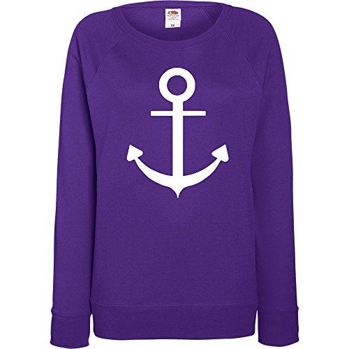 TRVPPY - Sweat Pull, modèle ANCHOR ANCRE - Femme, différentes tailles et couleurs Violet