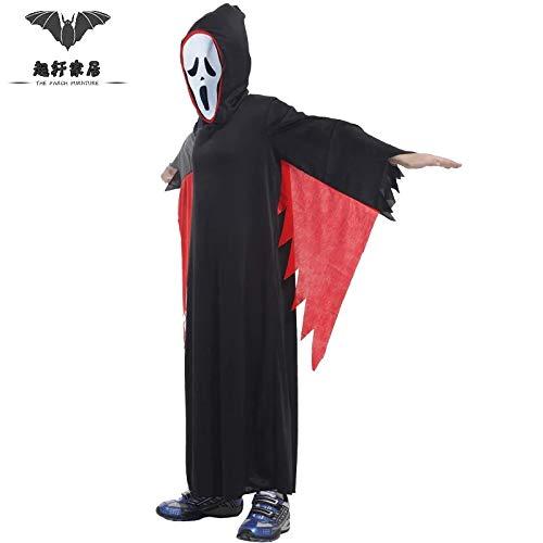 Xiaoludian Halloween Cosplay Abbigliamento per Bambini Uomo Terrore Oscuro Siamese Maschera Costumi Costumi (Design : Dark God(M))