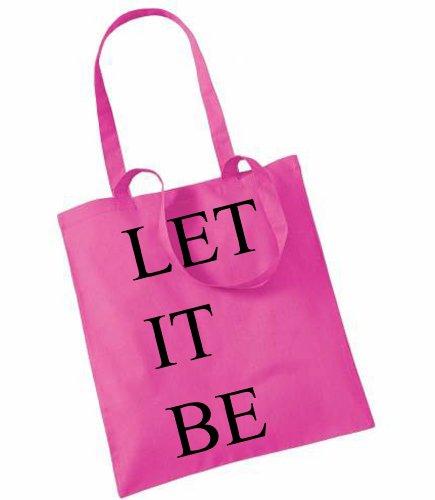 Let It Be imprimé sur le sac Rose - Fuchsia