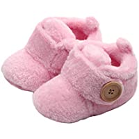 Babyschuhe Heligen Schöne Kleinkind erste Wanderer Babyschuhe Runde Kappe Wohnungen weiche Hausschuhe Schuhe(3~12 Monate)