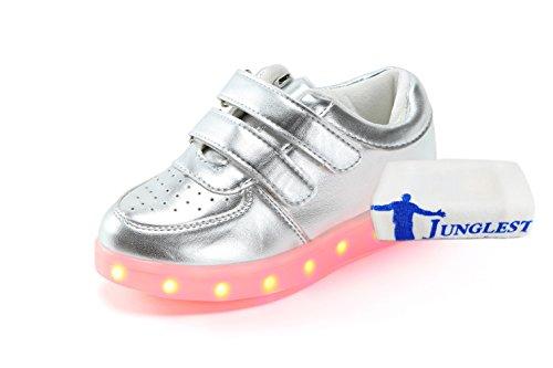 Mulheres Unissex Homens: [presente Pequena Toalha] Junglest® Carregamento Usb Luzes Led Brilhar Sapatos Luminosos Americano Bandeira Estrela Sapatos Casuais C4