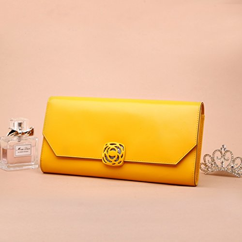 Female borse in pelle nuove donne di estate coreana afflusso selvaggio delle donne borsa del pacchetto Messenger Bag ( Colore : Giallo ) Giallo