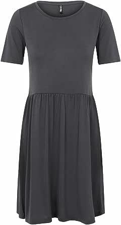 PIECES Pckamala SS Dress Noos BC Vestito Casual Donna