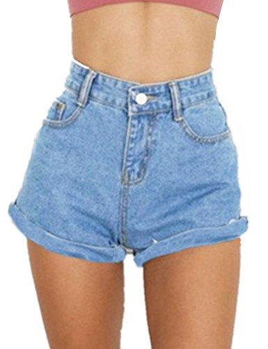 Goldstitch donna pantaloncini denim jeans corti in jeans stretch vita alta denim sexy shorts