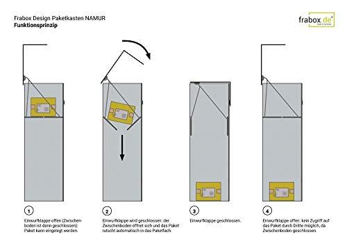 frabox Design Paketkasten Namur EXKLUSIV Edelstahl/Anthrazitgrau - 5