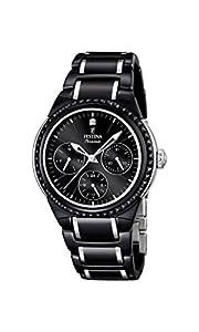 Festina F16699/4 - Reloj de pulsera mujer, cerámica, color negro de Festina