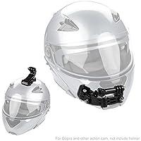 Hootracker Helm Kinnhalterung Helmhalterung Kit für GoPro Hero 5 6 Xiaomi Yi Action Kamera, Helm Front und Side Swivel Mount und Flat Curved Adhesive Mounts mit Sticky Pads