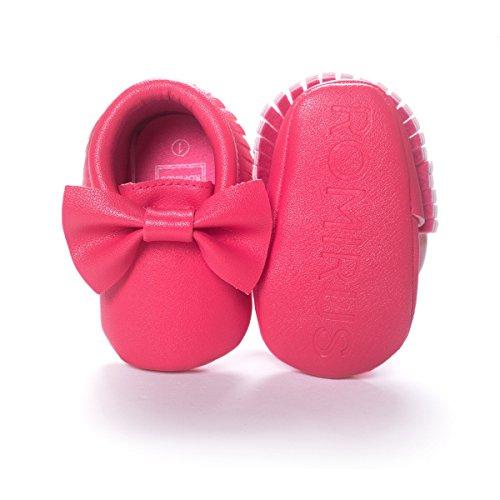 Nicetage Süß Mädchen Schuhe Laufternshuhe Krabbelschuhe für 0-18 Monate Baby Neugeborenen Schuhe Rose BW01BrF1n