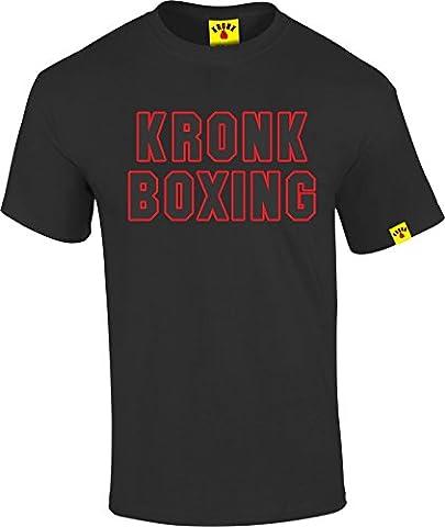 kronk Sport pour Homme à Manches Courtes kronk boxe Regular Fit T-shirt en coton pour t - noir -
