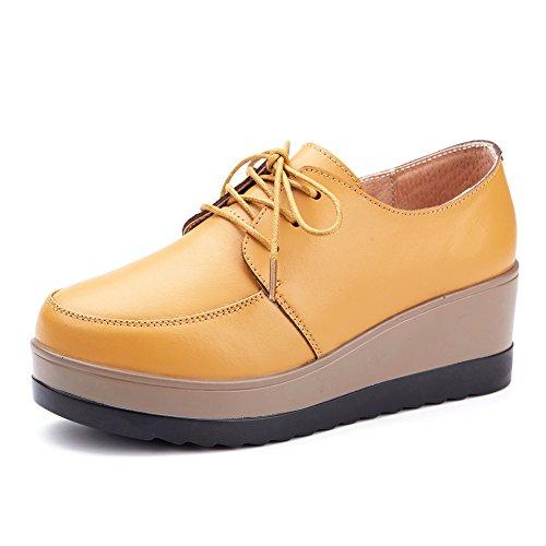 Chaussures plateforme/Quartiers de femmes chaussures/Semelles lisses d'Angleterre B