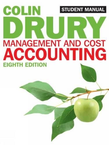 Management and Cost Accounting: Student Manual (Students Manual) por Colin Drury