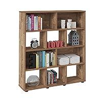 Artely Book Shelf, Rustic Brown - W 91 cm x D 25 cm x H 109 cm