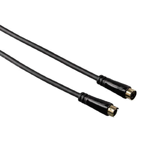 Hama S-Video-Kabel (Stecker auf Stecker, 4-polig, vergoldet, 5m) schwarz