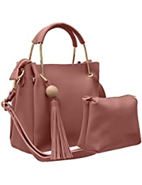 TAP FASHION Stylish PU Leather Women's 2Pcs (2in1 Combo Bag) Combo Of Handbag, Sling Bag For Ladies And Girl With...