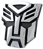 #4: Automaze Transformer Autobot 3D Chrome Badge Sticker Bike Car Racing Optimus Prime