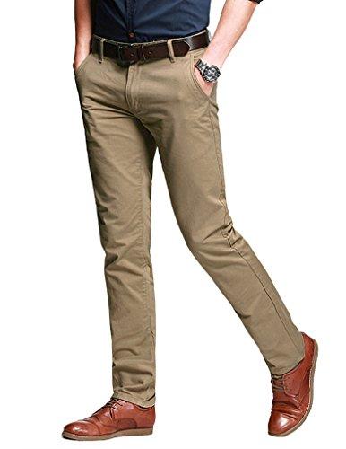 Match Pantalons Casual Slim Tapered pour Homme #8025 8025 Pale kaki(Light khaki)