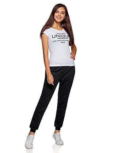 oodji Ultra Damen Jersey-Hose (2er-Pack) Schwarz (2900N)