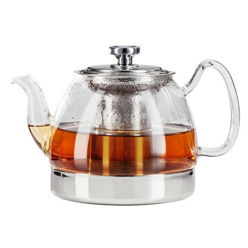 Judge Stove Top Glass Teapot, Transparent, 900 ml