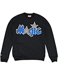 Mitchell & Ness Orlando Magic Logo NBA Sweat-shirt à col rond noir