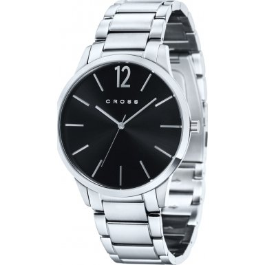 cross-franklin-mens-quartz-watch-with-black-dial-analogue-display-and-silver-stainless-steel-bracele