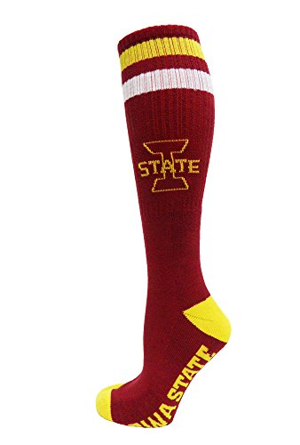 Donegal Bay NCAA Iowa State Cyclones Maroon Tube Socks, One Size, Rot -