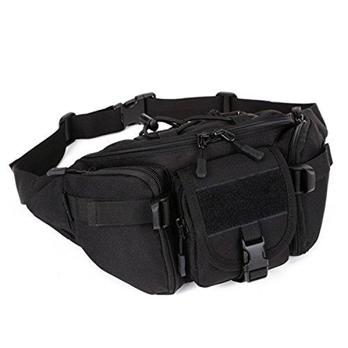 Protector Plus Outdoor große Taschen reiten reisen lumbale Klettern lauft Taschen lässig Brust Ärmel männlichen Satchel Tasche Black
